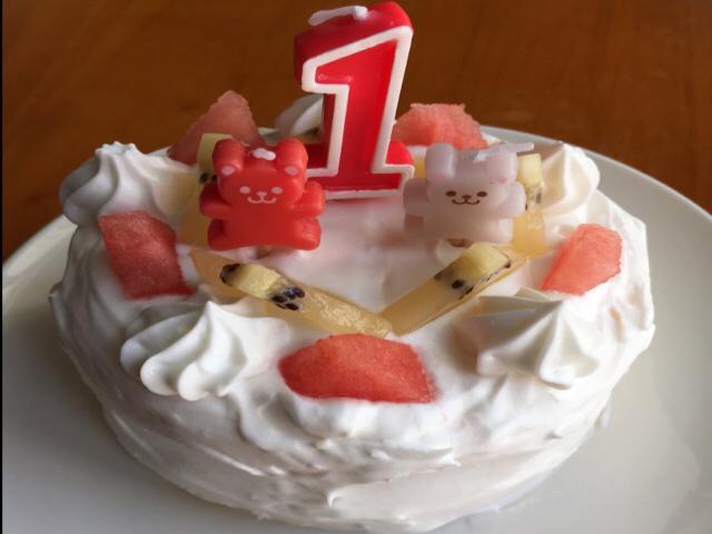 1歳バースデーケーキ 赤ちゃん用